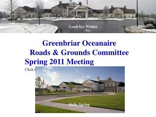Greenbriar Oceanaire Roads & Grounds Committee