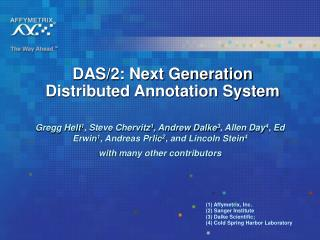 DAS/2: Next Generation Distributed Annotation System
