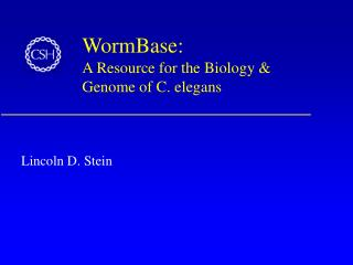 WormBase:  A Resource for the Biology & Genome of C. elegans