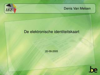 De elektronische identiteitskaart 20-09-2005