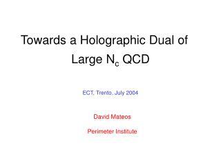 Large N c  QCD