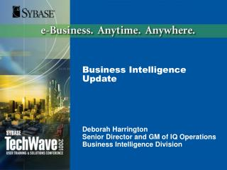 Business Intelligence Update