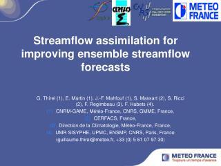 Streamflow assimilation for improving ensemble streamflow forecasts