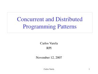 Concurrent and Distributed Programming Patterns