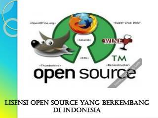Lisensi  Open source yang  berkembang di  Indonesia