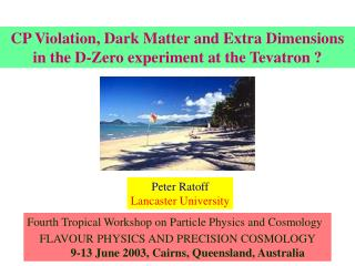 Fourth Tropical Workshop on Particle Physics and Cosmology