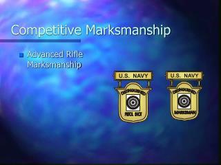 Competitive Marksmanship