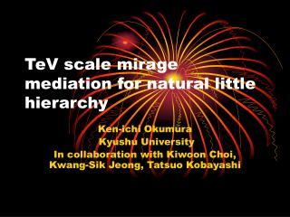 TeV scale mirage mediation for natural little hierarchy