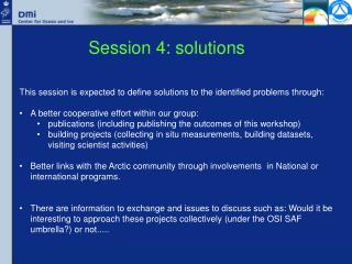 Session 4: solutions