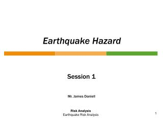 Earthquake Hazard