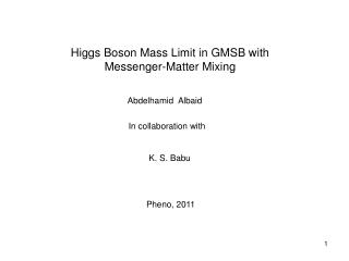 Higgs Boson Mass Limit in GMSB with    Messenger-Matter Mixing