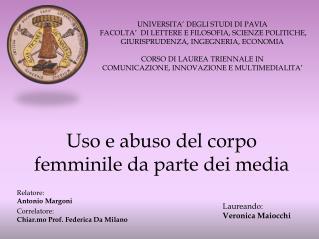 Uso e abuso del corpo femminile da parte dei media