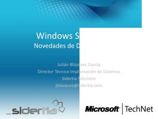 Windows Server 2012 Novedades de Directorio Activo