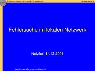 Fehlersuche im lokalen Netzwerk
