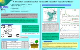 A streamflow assimilation system for ensemble streamflow forecast over France