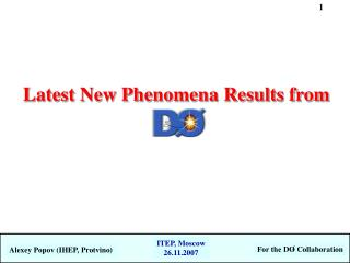 Latest New Phenomena Results from