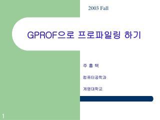 GPROF 으로 프로파일링 하기