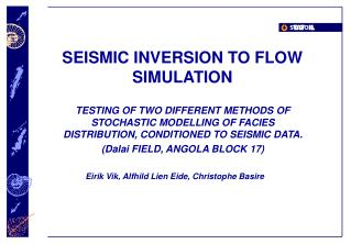 SEISMIC INVERSION TO FLOW SIMULATION