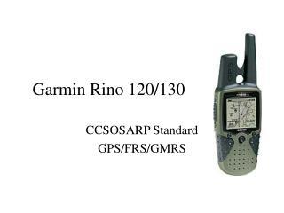 Garmin Rino 120/130