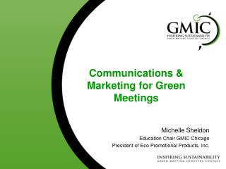 Communications & Marketing for Green  Meetings