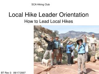 Local Hike Leader Orientation