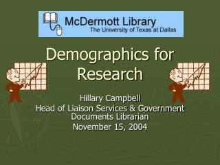 Demographics for Research