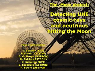 The  ν Moon project: Detecting UHE cosmic-rays  and neutrinos hitting the Moon