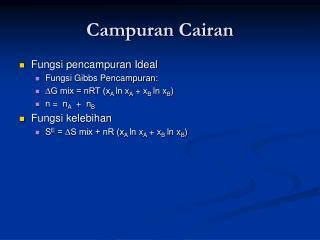 Campuran Cairan