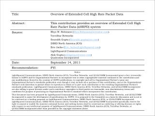 Overview of Extended Cell High Rate Packet Data (xHRPD)