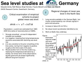 Sea level studies at          , Germany