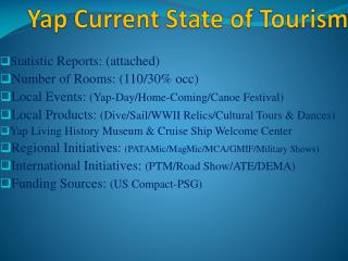 Yap Current State of Tourism
