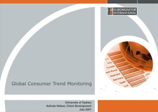 Global Consumer Trend Monitoring