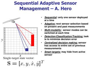 Sequential Adaptive Sensor Management � A. Hero