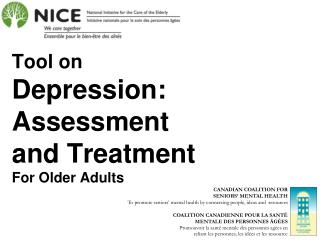 Tool on Depression: Assessment and Treatment For Older Adults