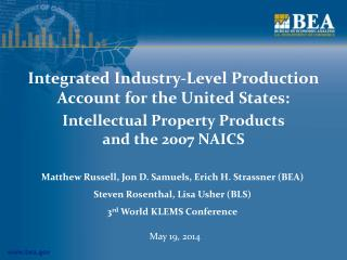 Integrated Industry-Level Production Account for the United States: