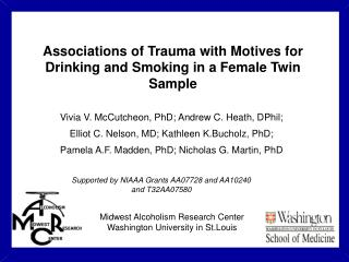 Associations of Trauma with Motives for Drinking and Smoking in a Female Twin Sample