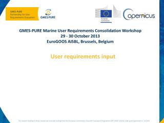 GMES PURE user requirements input