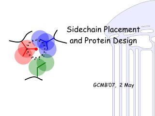 Sidechain Placement  and Protein Design