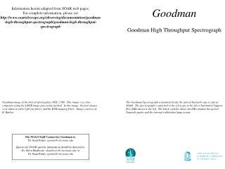 Goodman Goodman High Throughput Spectrograph