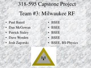 Team #3: Milwaukee RF