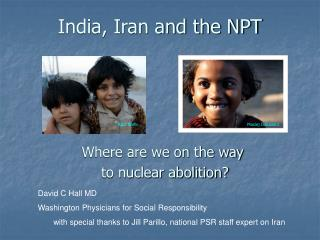 India, Iran and the NPT