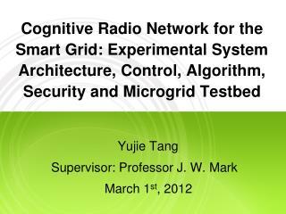 Yujie Tang Supervisor: Professor J. W. Mark                       March 1 st , 2012