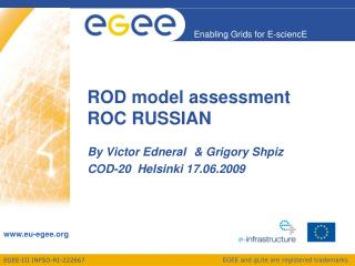 ROD model assessment  ROC RUSSIAN
