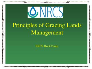 Principles of Grazing Lands Management