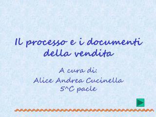 Il processo e i documenti della vendita