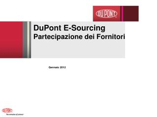 DuPont E-Sourcing  Partecipazione dei Fornitori