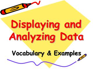 Displaying and Analyzing Data