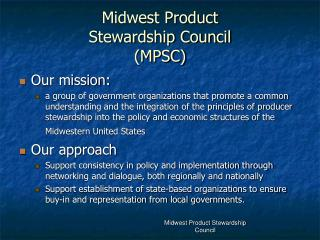 Midwest Product Stewardship Council (MPSC)