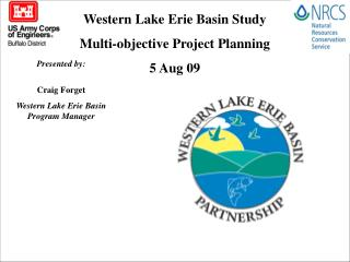 Western Lake Erie Basin Study  Multi-objective Project Planning 5 Aug 09