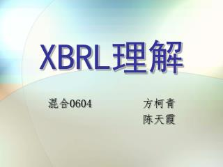 XBRL 理解
